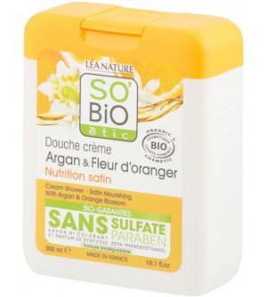 Gel sprchový argan a pomerančové květy 300 ml BIO SO´BIO étic