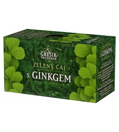 Grešík Zeleny čaj s ginkgem 20 x 1,5 g