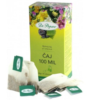 Dr. Popov Čaj 100 mil 20 x 1,5 g