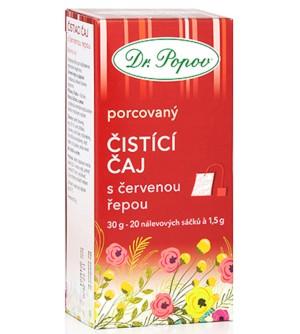 Dr. Popov Čistící čaj s červenou řepou 20 x 1,5 g