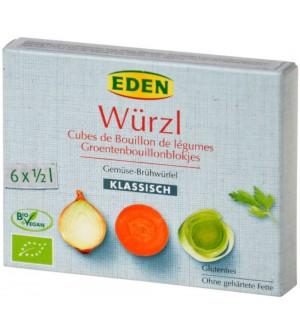 EDEN Bujon zeleninový WÜRZL kostky 66 g BIO
