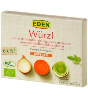 EDEN Bujon zeleninový WÜRZL kostky bez droždí 72 g BIO