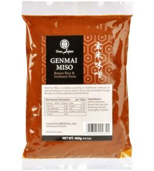 MUSO Miso genmai hnědá rýže 400 g