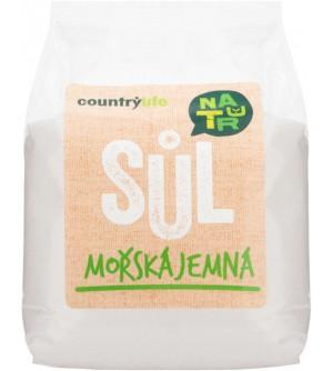 COUNTRY LIFE Sůl mořská jemná 1 kg