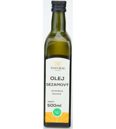 NATURAL JIHLAVA Olej sezamový za studena lisovaný 500 ml