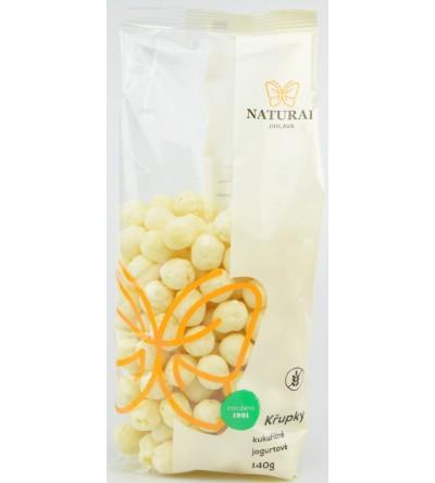 NATURAL JIHLAVA Křupky kukuřičné jogurtové 140 g