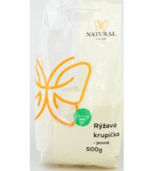 NATURAL JIHLAVA Rýžová krupička jemná 500 g