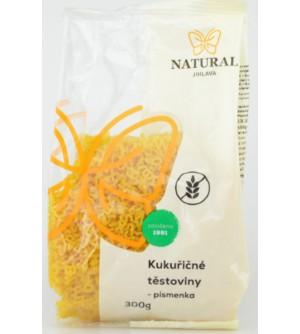 NATURAL JIHLAVA Kukuřičné těstoviny písmenka 300 g