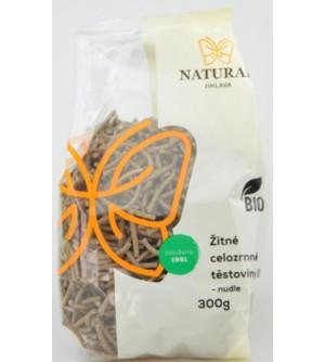 NATURAL JIHLAVA Žitné celozrnné těstoviny BIO nudle 300 g