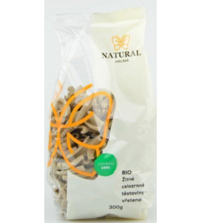 NATURAL JIHLAVA Žitné celozrnné těstoviny BIO - vřetena 300 g