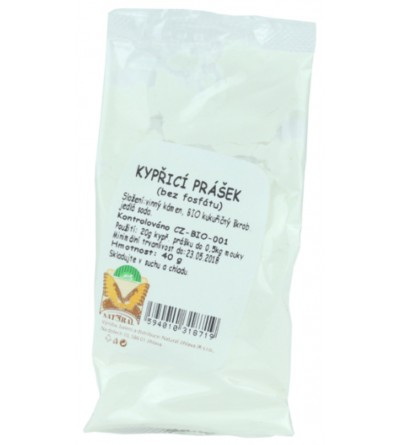 NATURAL JIHLAVA Kypřící prášek bez fosfátu BIO 40 g
