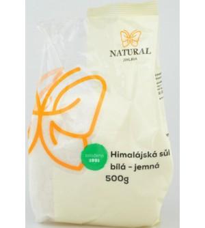 NATURAL JIHLAVA Himalájská sůl bílá jemná 500 g