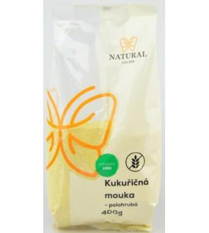 NATURAL JIHLAVA Kukuřičná mouka polohrubá 400 g