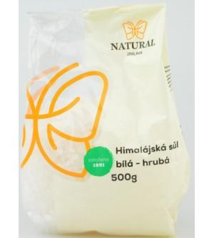 NATURAL JIHLAVA Himalájská sůl bílá hrubá 500 g