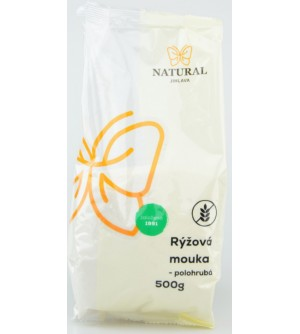 NATURAL JIHLAVA Rýžová mouka polohrubá 500 g