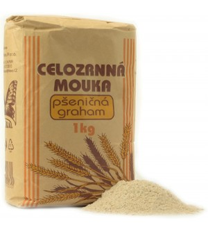 NATURAL JIHLAVA Celozrnná mouka pšeničná graham 1000 g