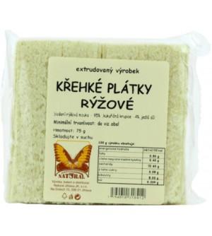 NATURAL JIHLAVA Křehké plátky rýžové 75 g