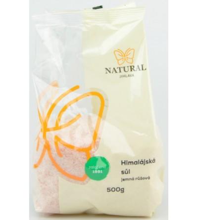 NATURAL JIHLAVA Himalájská sůl růžová jemná 500 g