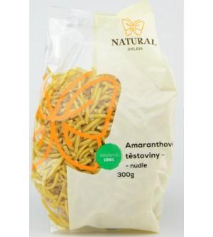 NATURAL JIHLAVA Amaranthové těstoviny nudle 300 g