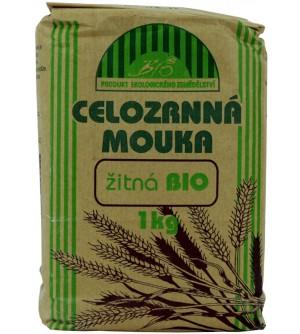 NATURAL JIHLAVA Celozrnná mouka žitná BIO 1000 g