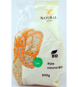 NATURAL JIHLAVA Rýže natural BIO 500 g