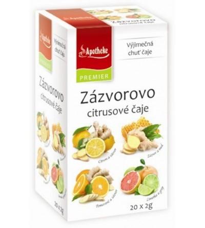 Apotheke Zázvorovo-citrusové čaje 4v1 4 x 5 x 2 g