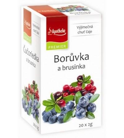 APOTHEKE Borůvka a brusinka 20 x 2 g
