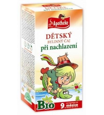APOTHEKE Dětský čaj při nachlazení BIO 20 x 1,5 g