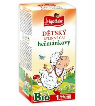 APOTHEKE Dětský čaj heřmánkový Bio 20 x 1 g