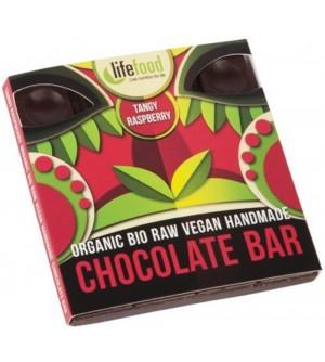 LIFEFOOD Bio čokoláda z nepraženého kakaa malinová raw 35 g