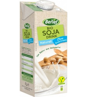 BERIEF Bio Sójový drink Naturell 1 l