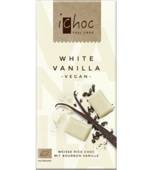 ICHOC Bio bílá čokoláda s vanilkou 80 g