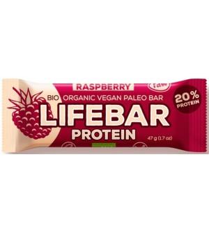LIFEFOOD Bio lifebar protein malinová 47 g
