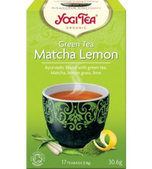 YOGI TEA Bio Zelený čaj Matcha Citrón 17 x 1,8 g