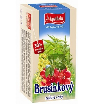 APOTHEKE Brusinkový čaj 20 x 1,5 g