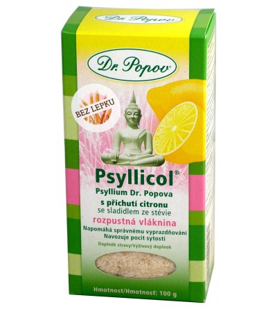 Dr. Popov Psyllicol® s příchutí citronu 100 g