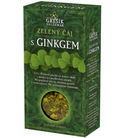 Grešík sypaný čaj Zelený čaj s ginkgem 70 g