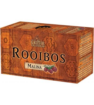 Grešík čaj Rooibos Malina 20 x 1,5 g