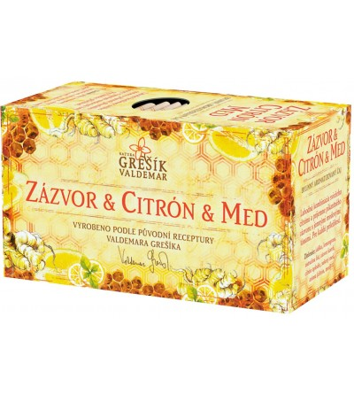 Grešík čaj Zázvor & Citrón & Med 20 x 2 g