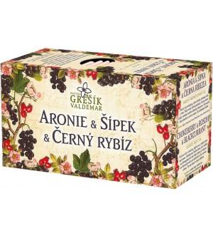 Grešík čaj Aronie & Šípek & Černý rybíz 20 x 2 g