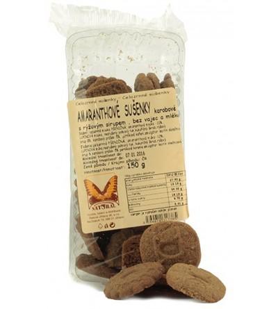 NATURAL JIHLAVA Amaranthové sušenky karobové 150 g
