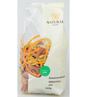 NATURAL JIHLAVA Amaranthové těstoviny mix 300 g