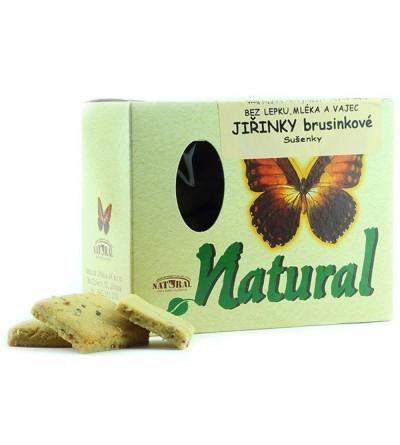 NATURAL JIHLAVA Jiřinky bezlepkové brusinkové sušenky 150 g