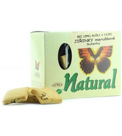 NATURAL JIHLAVA Jiřinky bezlepkové meruňkové sušenky 150 g