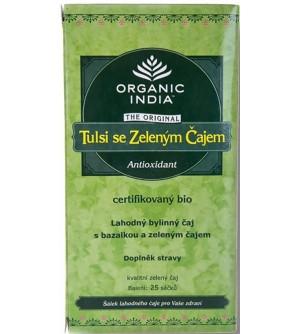 EcceVita Tulsi se zeleným čajem Organic India BIO 25 sáčků