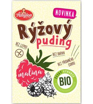 AMYLON BIO rýžový puding malinový bez lepku 40 g