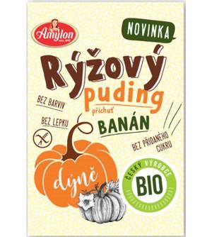 AMYLON BIO puding rýžový s dýní a příchutí banánu bez lepku 40 g