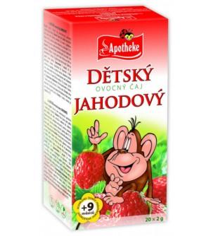 APOTHEKE Dětský čaj jahodový 20 x 2 g