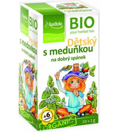 APOTHEKE BIO Dětský ovocný s meduňkou 20 x 2 g