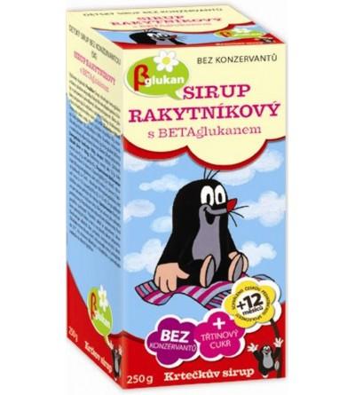 APOTHEKE Krtečkův sirup Rakytníkový s betaglukanem 250 g